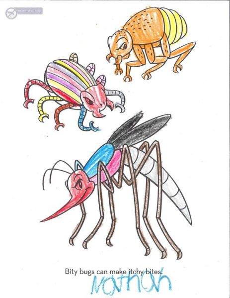 Mosquito coloring from Nathan