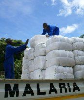 Zambia4.large insecticde treated bed nets arrive to much anticipation in Zambia
