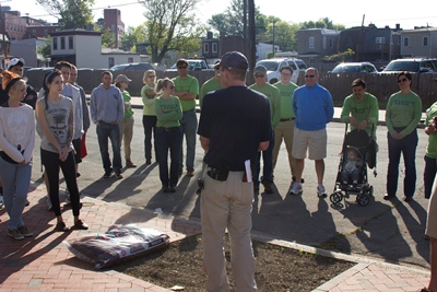 We gathered this morning to help beautify a block in Richmond's Union Hill neighborhood